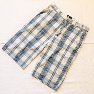 Micos Blue Plaid Mens / Boys 18 Shorts